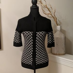Black and White Lovely Cardigan.